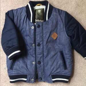 Timberland infant puffy varsity jacket